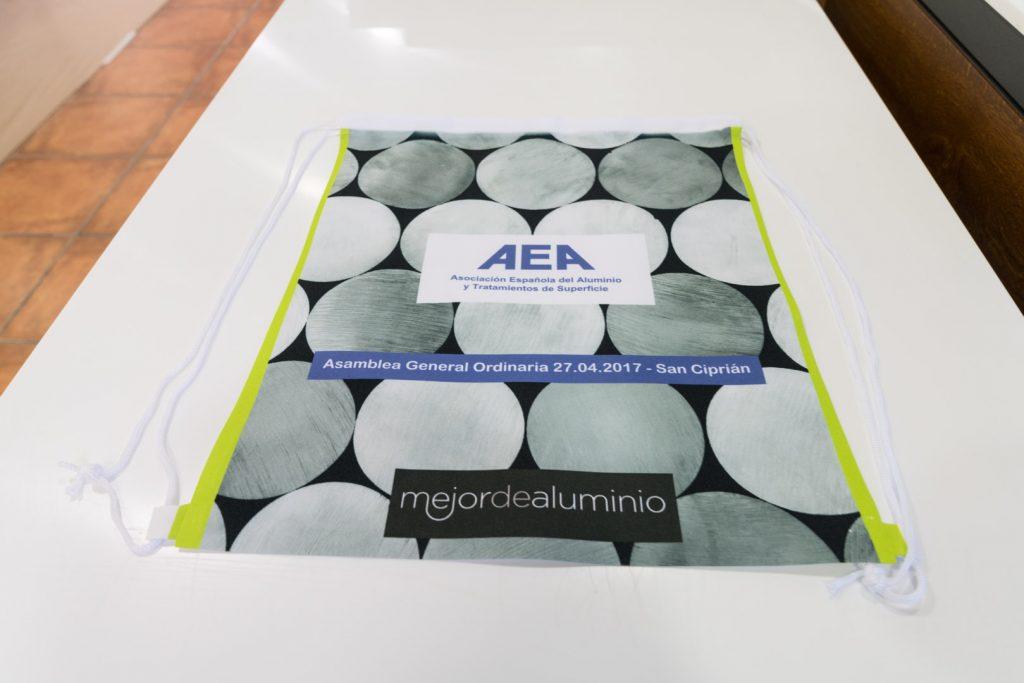 Bolsa sublimada para Asociacion del Aluminio