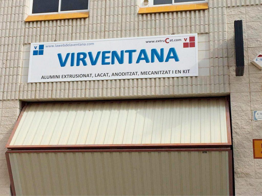 Cartel-sublimado VIRVENTANA instalado