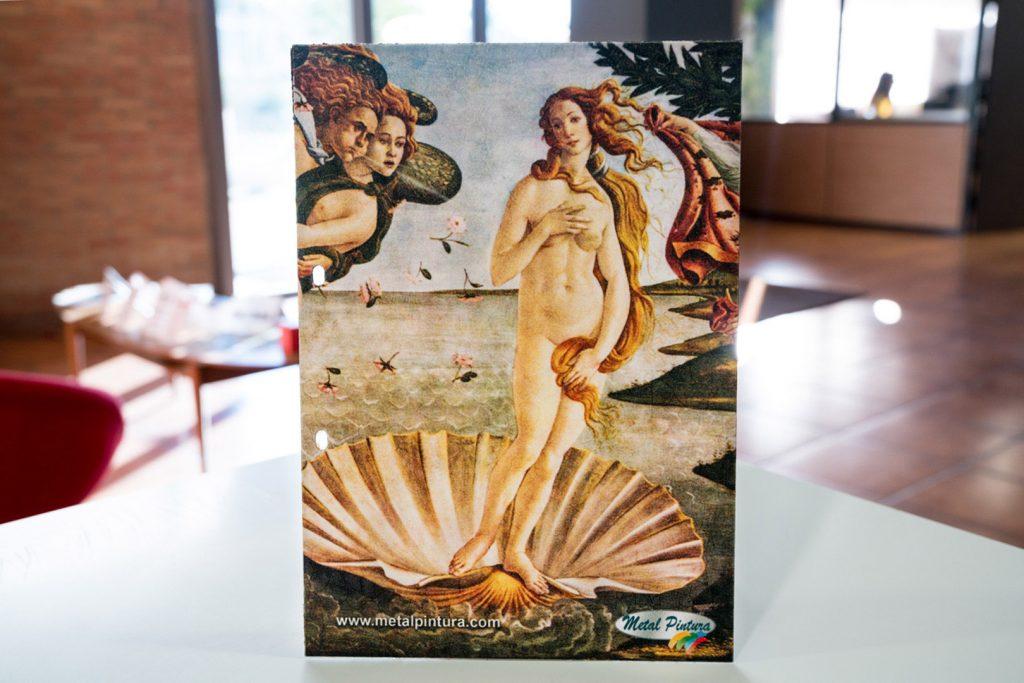 Imagen sublimada- Venus de Boticelli - sobre acabado Mural-Fresco