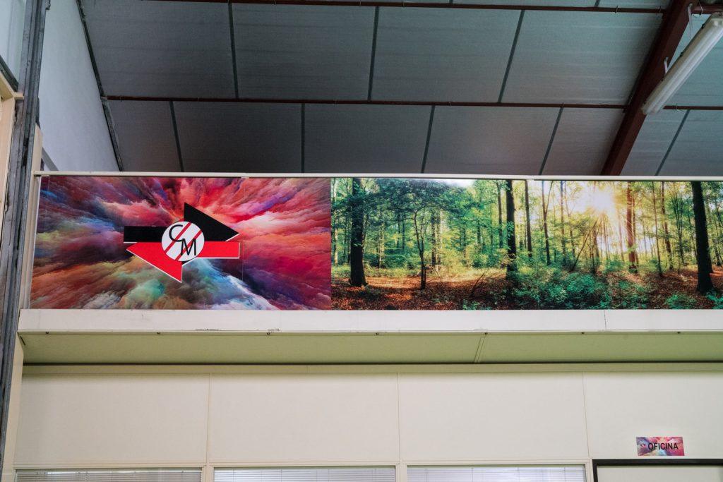 Detalle Mural sublimado para Comercial Marpin