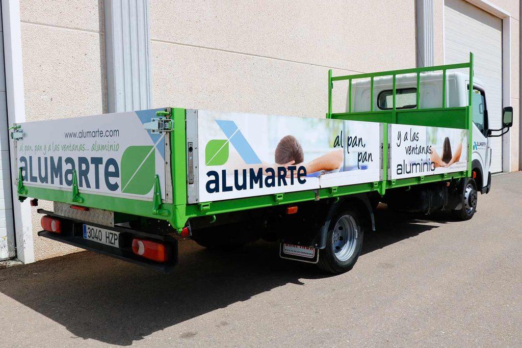 Camion-rotulado-por-sublimacion-digital para ALUMARTE